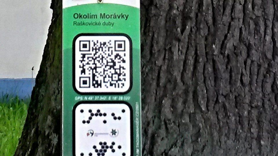 QR kód nabízí informace o dubech pro majitele chytrých telefonů