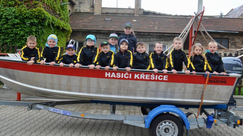 """""""Naloděné"""" děti od hasičů z Křešic"""