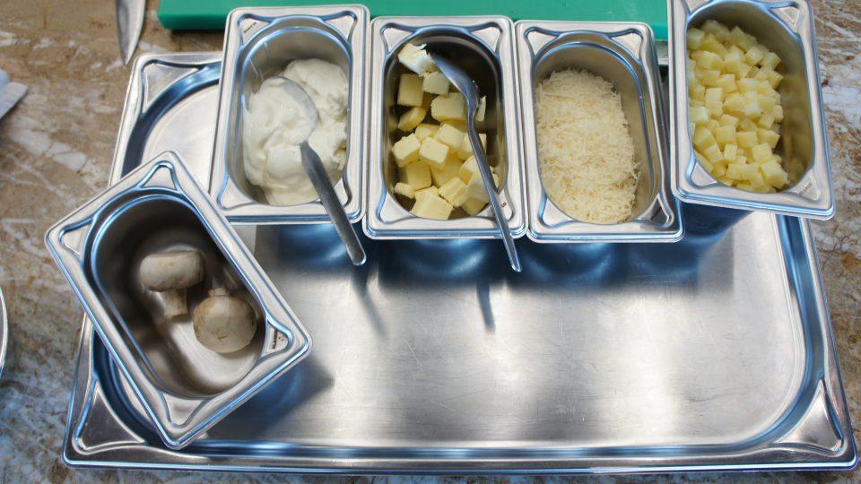 Ingredience k přípravě brambota