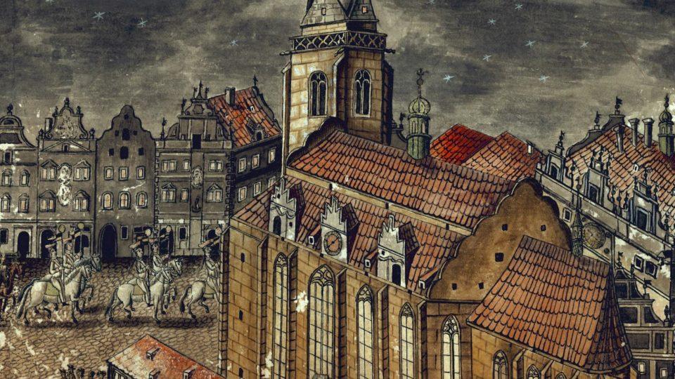 Hrázděný dům na náměstí jižně od kostela sv. Bartoloměje, který město nechalo vystavět coby obecní apatyku na počátku 16. století