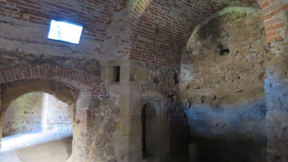 Sklepení hradu Točník