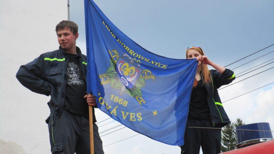 Vlajka SDH Nová Ves