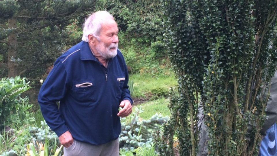 Vít Fritsche ve svém arboretu