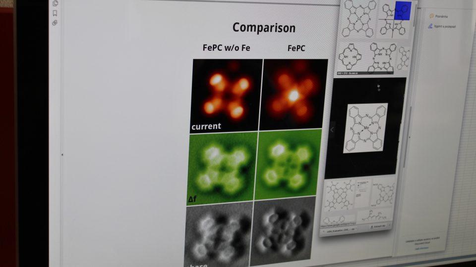 Fotografie molekuly