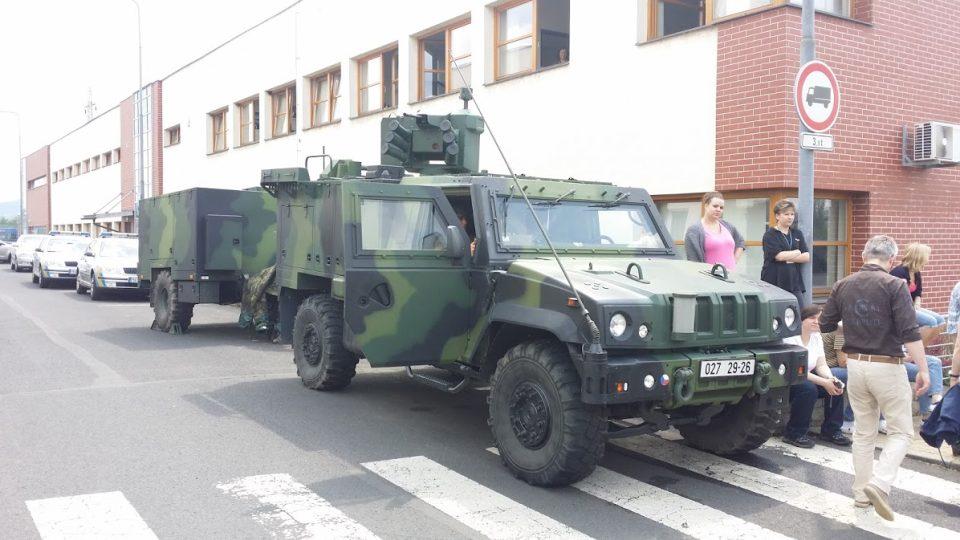 Vojenské cvičení v Předlicích