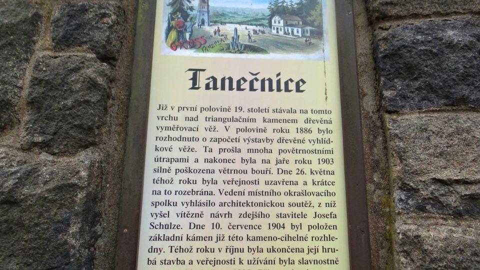 Rozhledna Tanečnice - historie