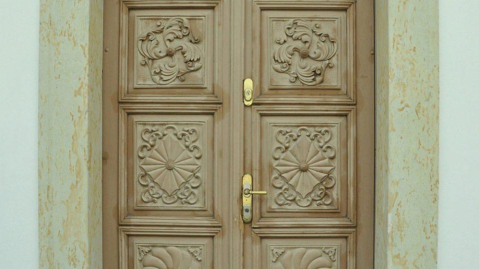 Dveře domu čp. 228 v Pálené ulici Foto archiv Městského muzea a galerie v Poličce