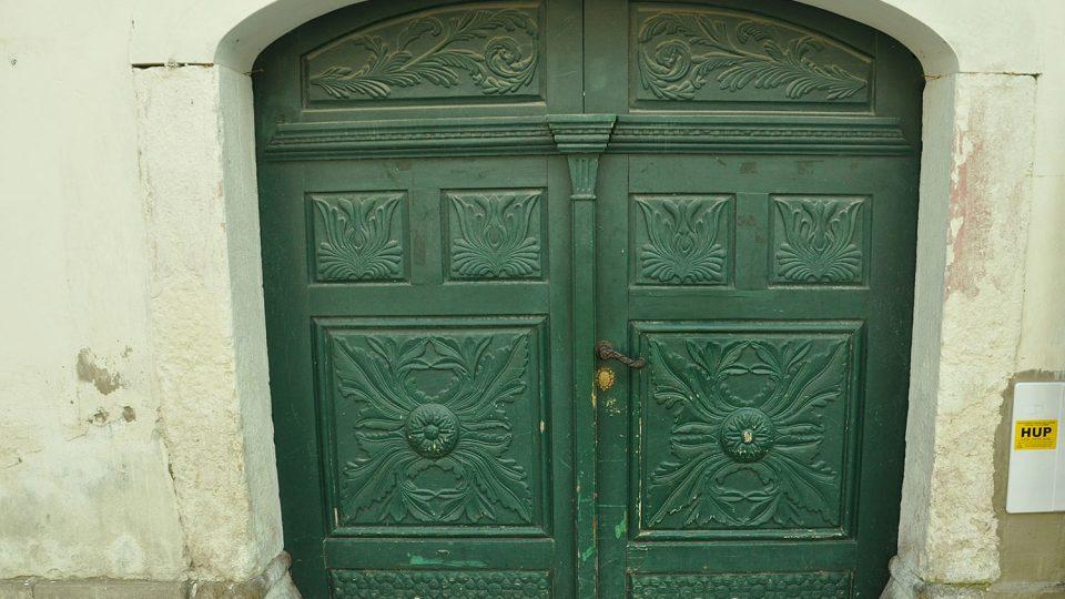 Vchod do domu čp. 3 v Masarykově ulici Foto archiv Městského muzea a galerie Polička