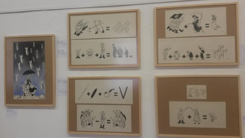 Karikatury Adolfa Hoffmeistera představuje výstava v Památníku Terezín