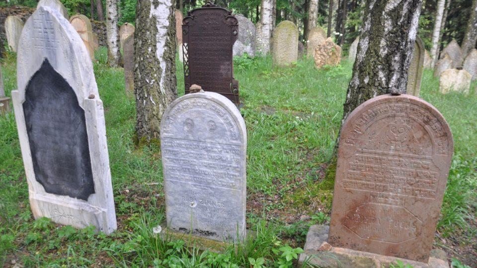 Jsou zde různé typy náhrobků, donedávna tu byl i dřevěný, který byl ale z bezpečnostních důvodů uložen v muzeu