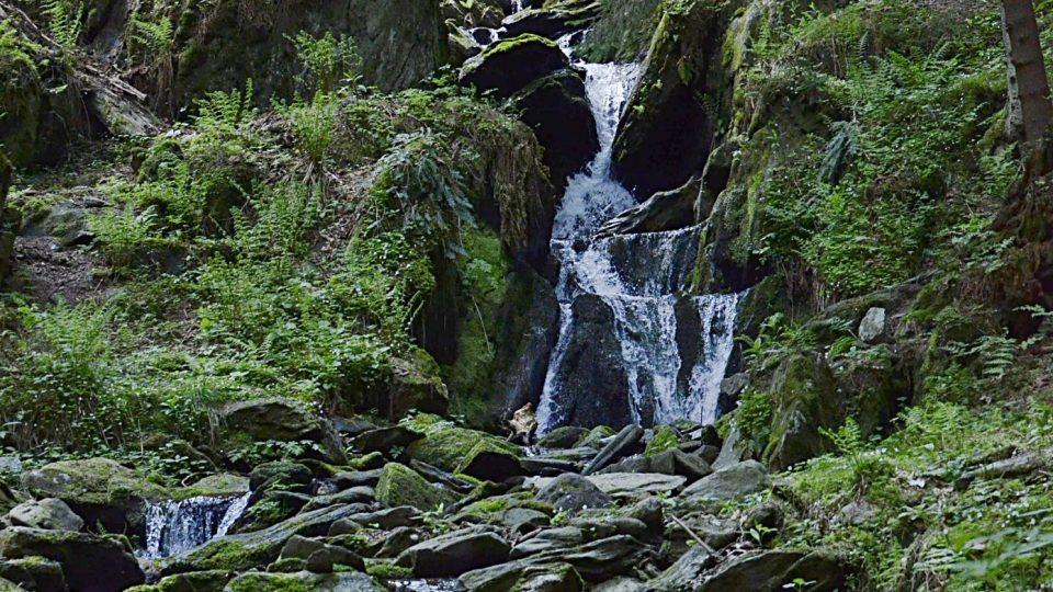 Vodopád na Vavřincově potoce