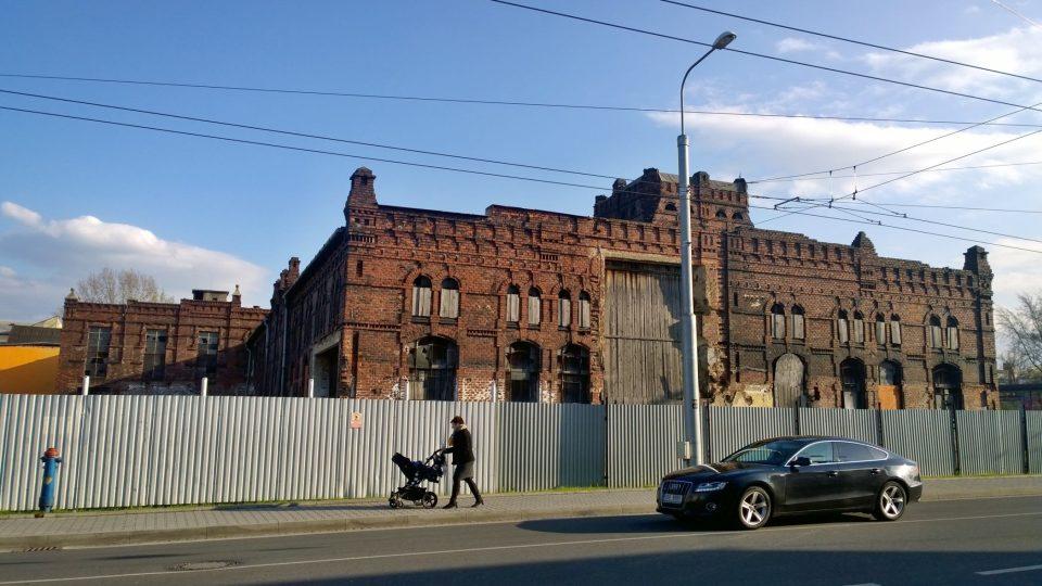 Historická budova městských jatek v Ostravě