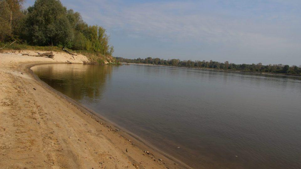 Jedna z pláží na řece Visle