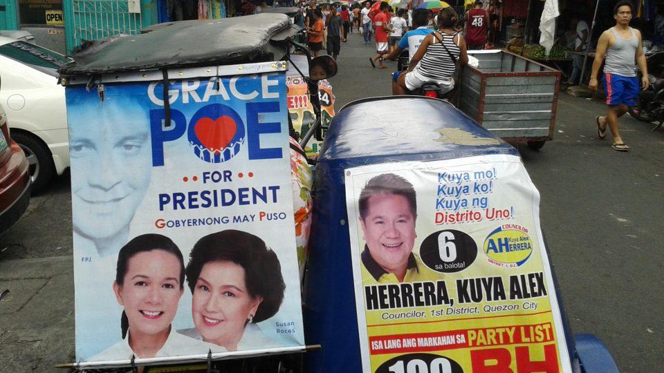 Předvolební plakáty, Filipíny