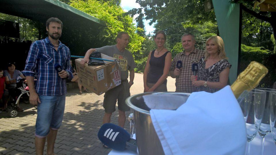 Z živého natáčení vysílání pořadu České-země neznámá