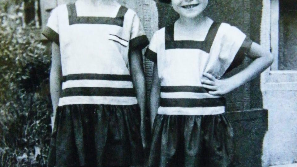 Dětská fotografie sester Suchánkových, 1932