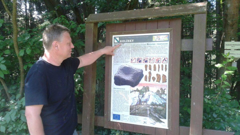 Jeskyňář a starosta Rudice Roman Šebela