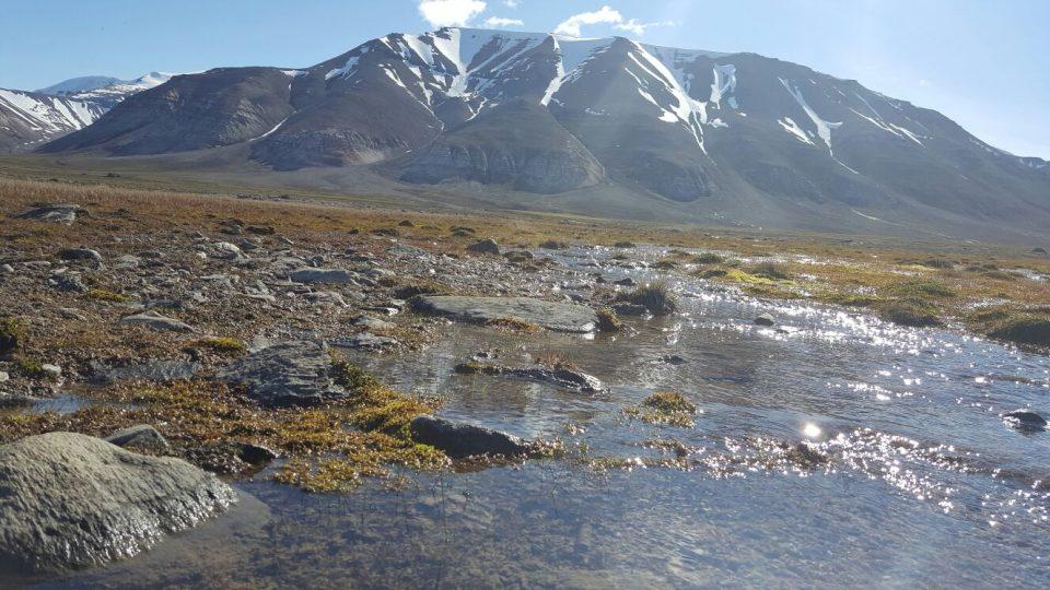 Čistá voda z ledovce Nordenskiold