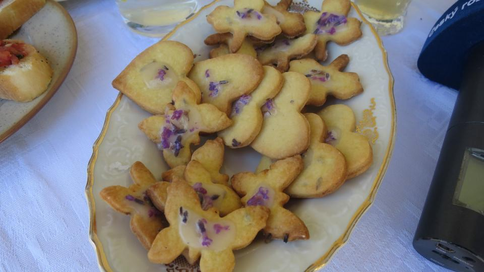 Levandulové sušenky od paní Vlasty