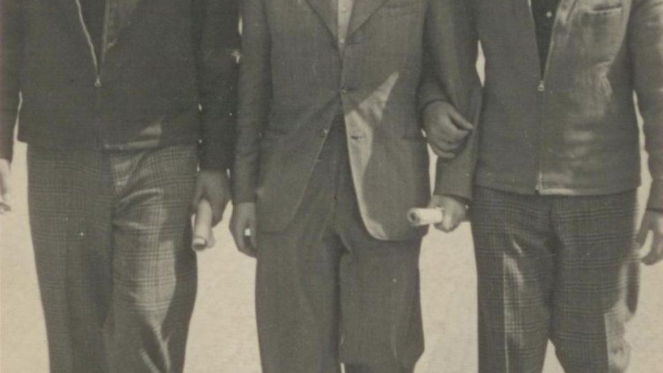 Miloš Gut, Jarda Kraus a Pepa Gut, 1. 5. 1946