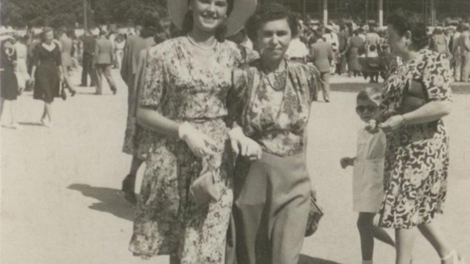 Zuzana a Truda Beckmannovy, Luhačovice 1947