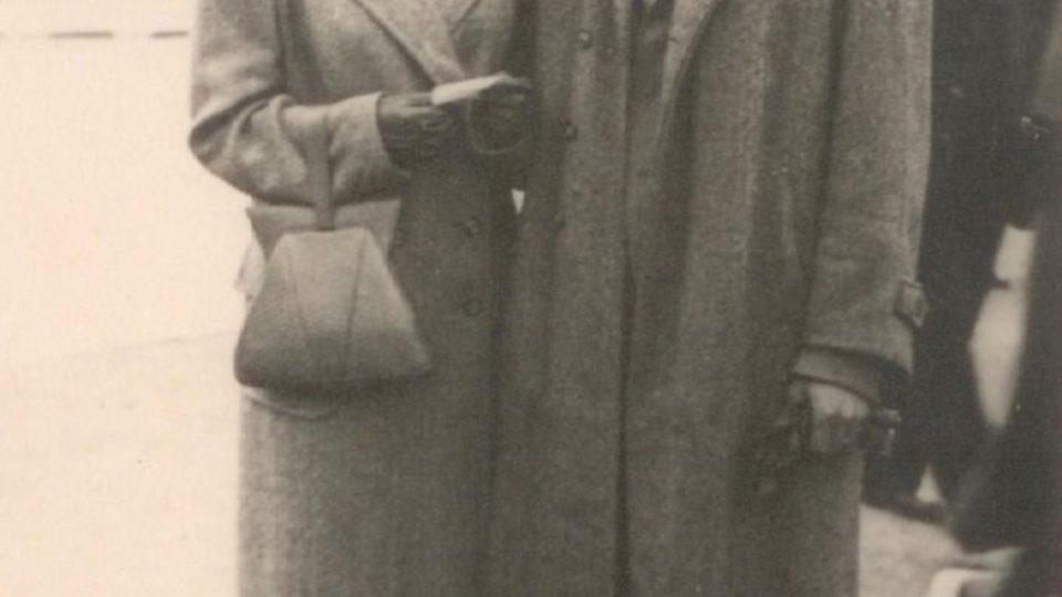 Zuzana Beckmannová s Milošem Gutem v září 1946