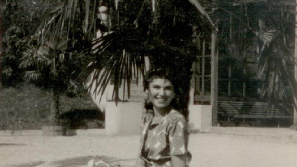 Zuzana Beckmannová v Luhačovicích, 1947