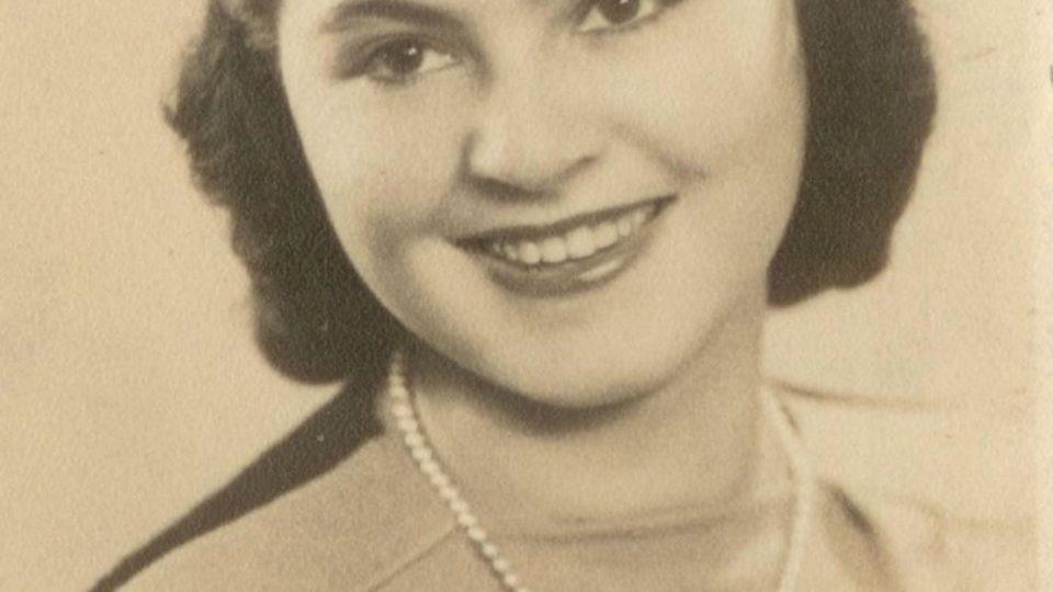 Zuzana Beckmannová v prosinci 1945