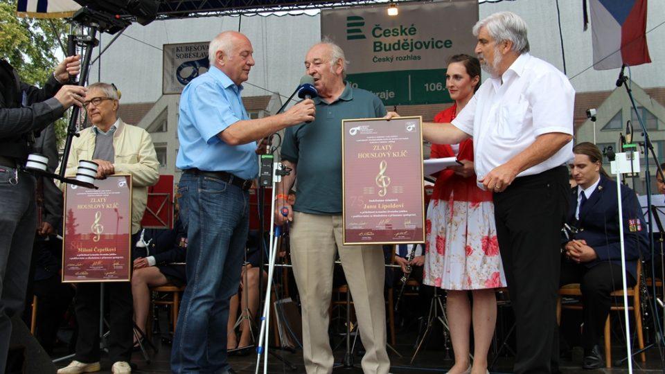K životnímu výročí skladateli Janu Lipoldovi popřál v přímém přenosu Ladislav Kubeš