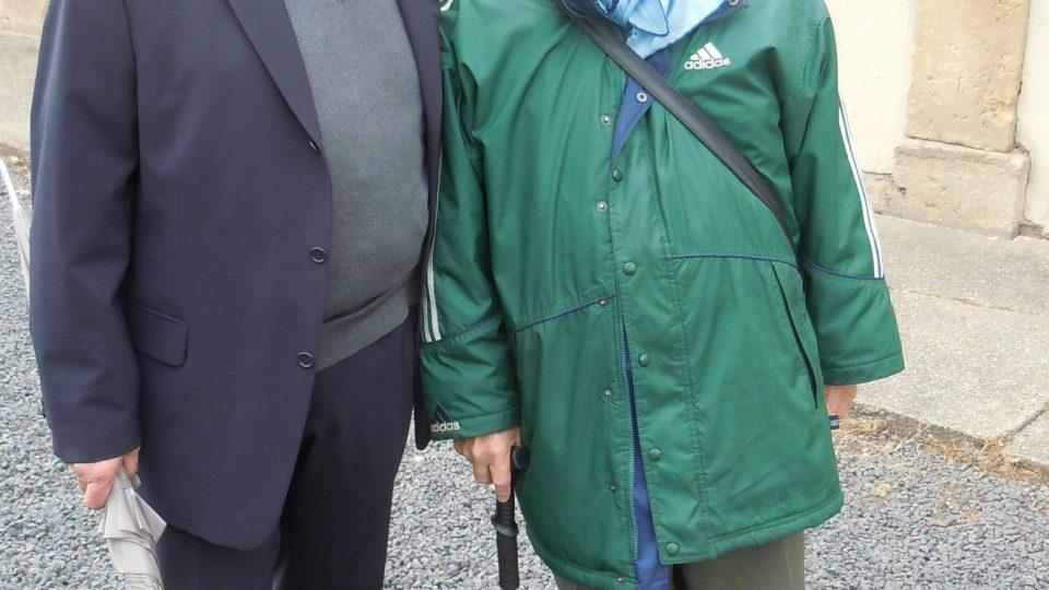Miloš Kocman s předsedou židovské obce Karlovy Vary Pavlem Rubínem, 2010