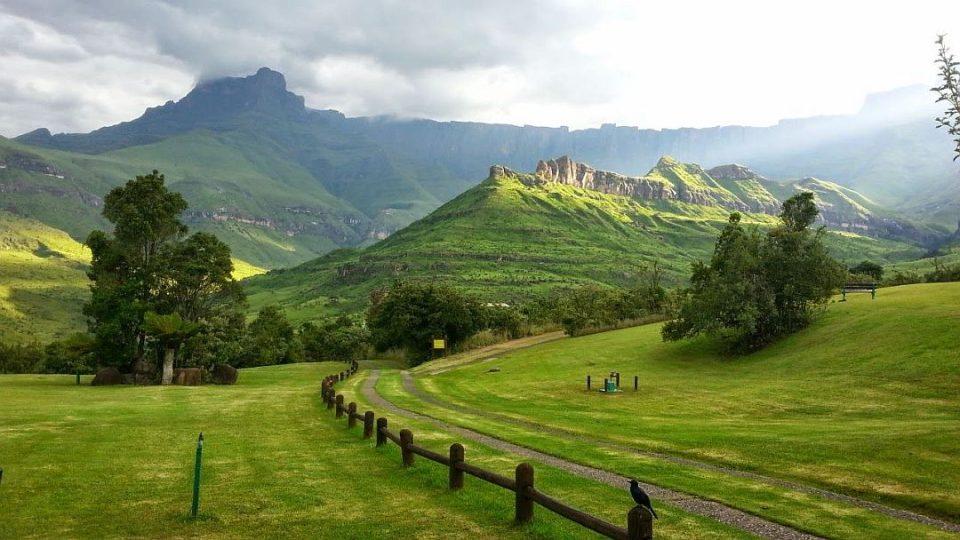 Pohled z kempu v Dračích horách, kam se Vlasta Milatová ráda vrací