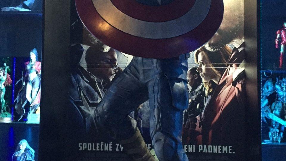 Komiksové hrdiny zastupuje třeba Kapitán Amerika