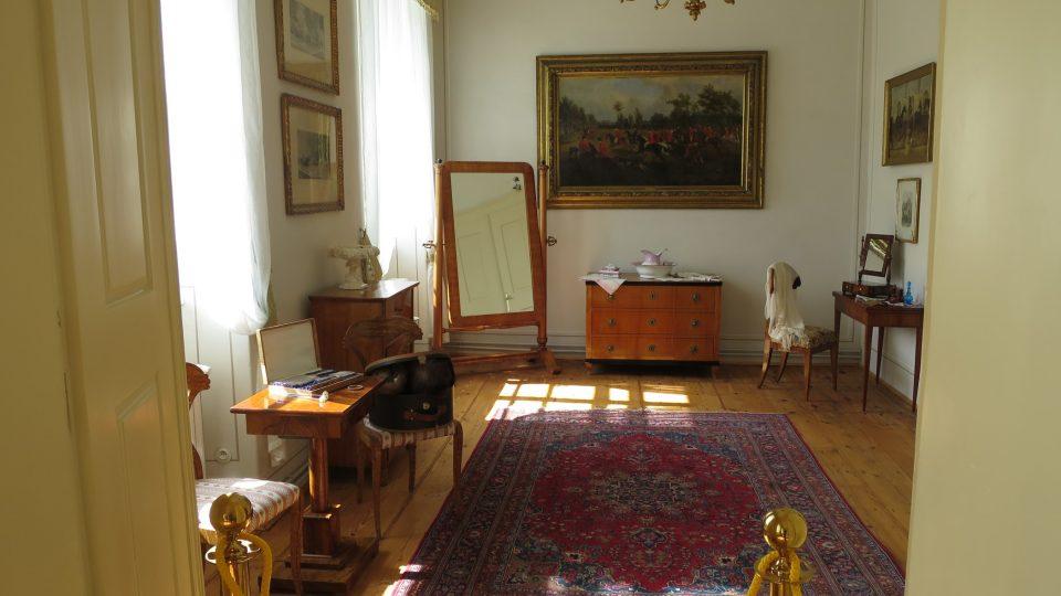 Expozice Kabinetu císařovny Alžběty, známé jako Sissi,v kladrubském zámku