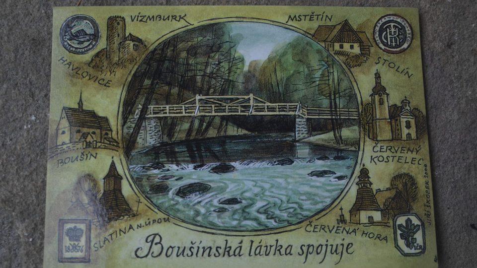 Příležitostná pohlednice Boušínské lávky