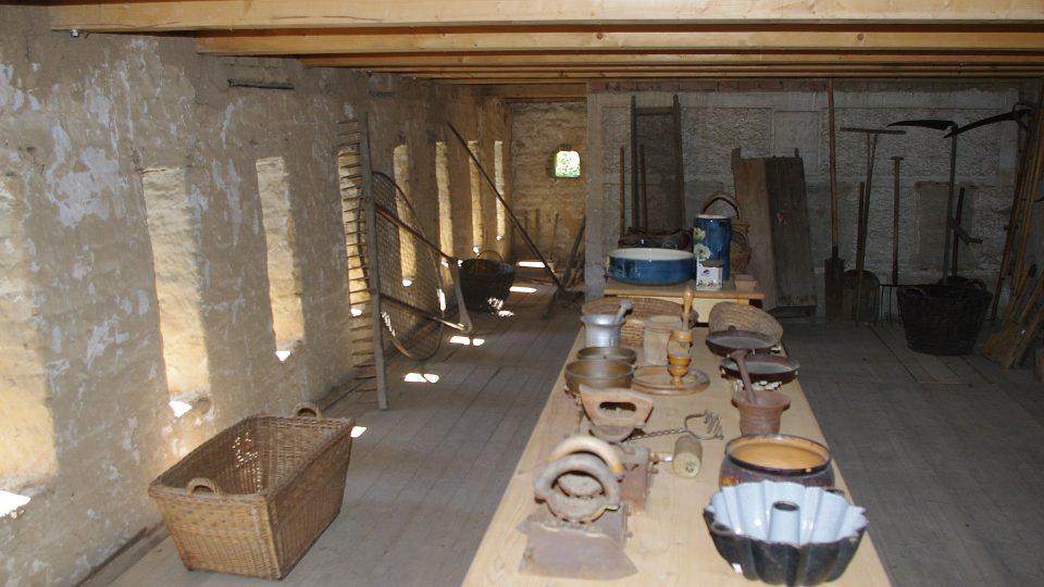 Část expozice slouží i jako selské muzeum