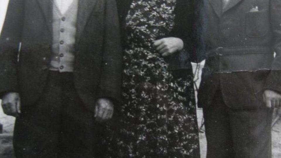 František Wiendl s rodiči po propuštění v roce 1960