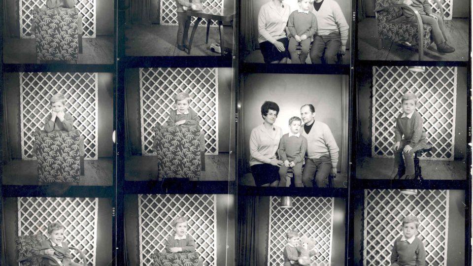 František Wiendl, s manželkou Janou a synem Janem, 70. léta