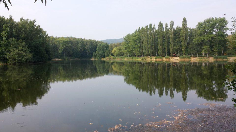 Zatopený důl Pelnář u Uhelné na Jesenicku