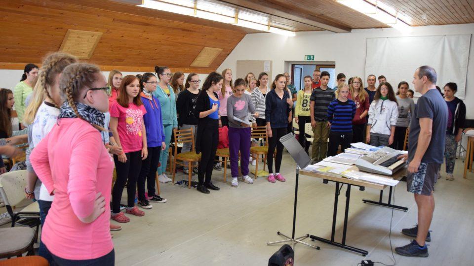 Soustředění koncertního sboru Ondrášek ve Štramberku