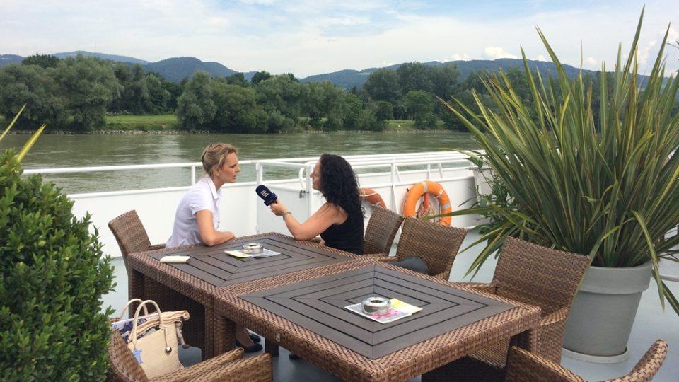 Plavba po Dunaji v rakouském Linci. šéfkou lodní společnosti je Jihočeška Hana Heschl