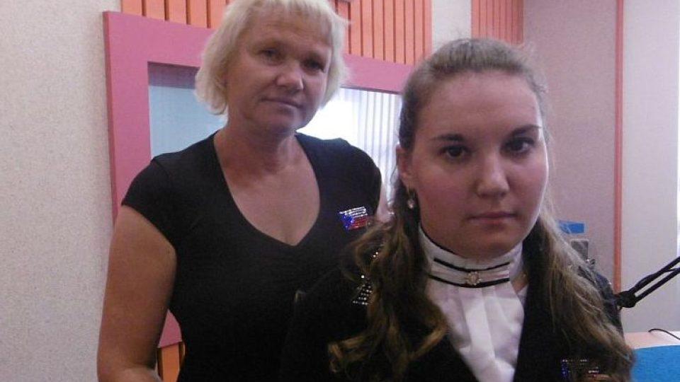 Ukrajinka Anastasja Vištalové, žijící od dětství v ČR, a její trenérka Renata Habásková. Obě se v brazilském Riu účastní paralympiády v paradrezuře