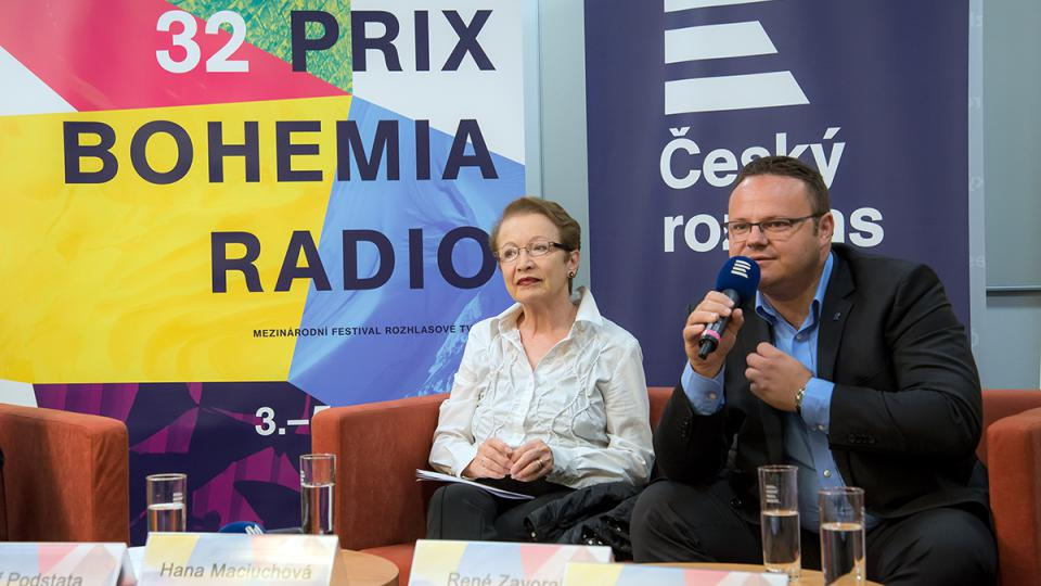 Tisková konference Prix Bohemia Radio 2016: Hana Maciuchová, René Zavoral