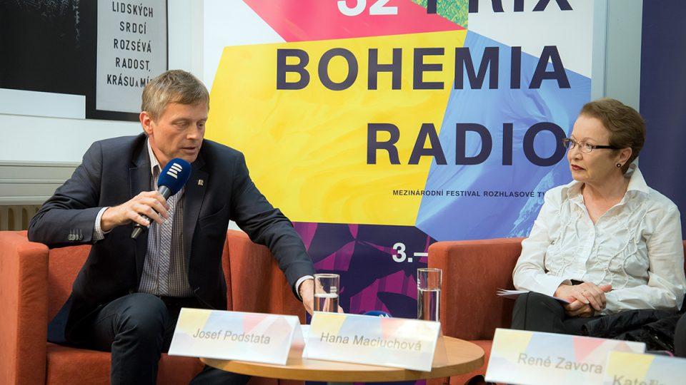 Tisková konference Prix Bohemia Radio 2016: Josef Podstata, Hana Maciuchová