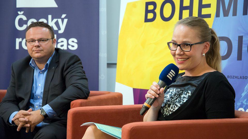 Tisková konference Prix Bohemia Radio 2016: René Zavoral, Kateřina Rathouská