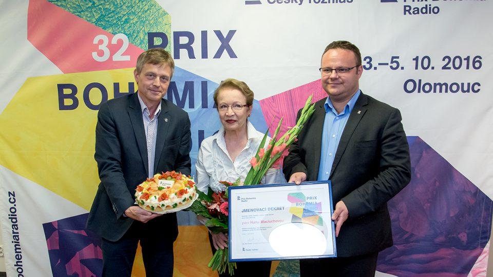 Tisková konference Prix Bohemia Radio 2016: Josef Podstata, Hana Maciuchová, René Zavoral