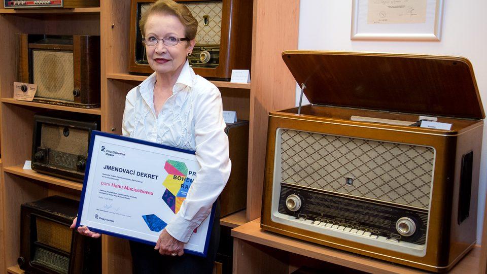 Tisková konference Prix Bohemia Radio 2016: Hana Maciuchová se jmenovacím dekretem