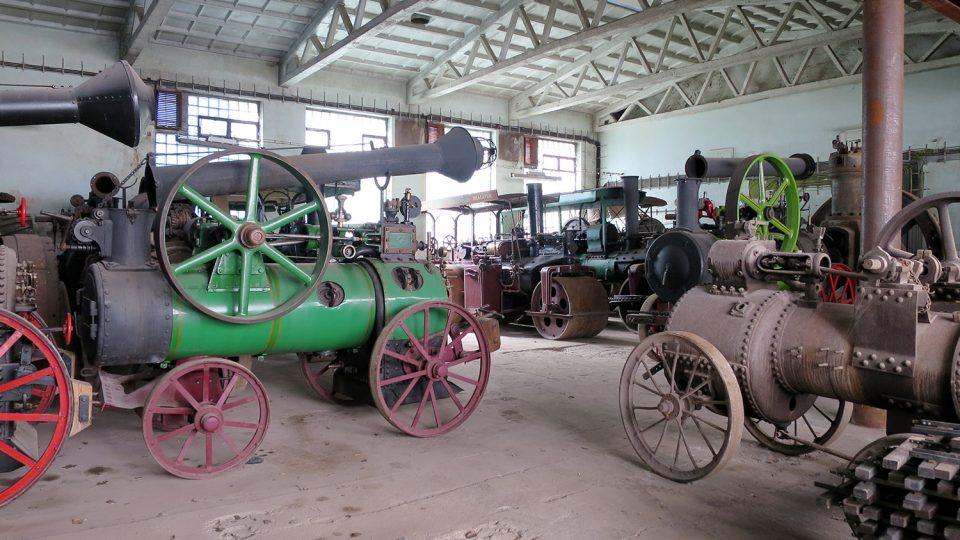 Nejtěžší parní stroje jsou umístěné v přízemí Muzea starých strojů a technologií
