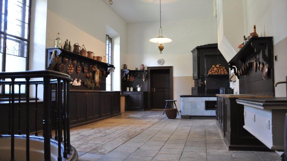 Kuchyně na zámku Hrádek u Nechanic