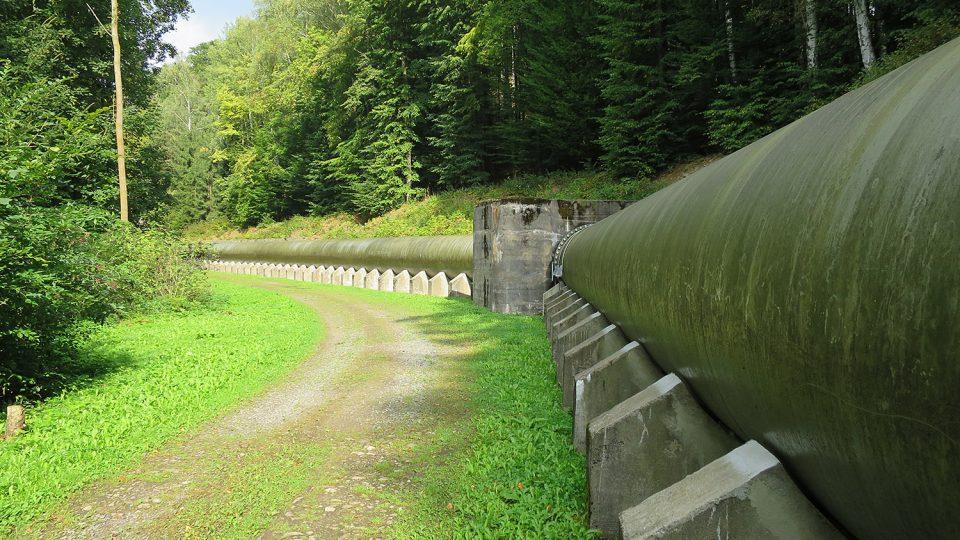 Ocelový přivaděč vody na špičkovou vodní elektrárnu Seč