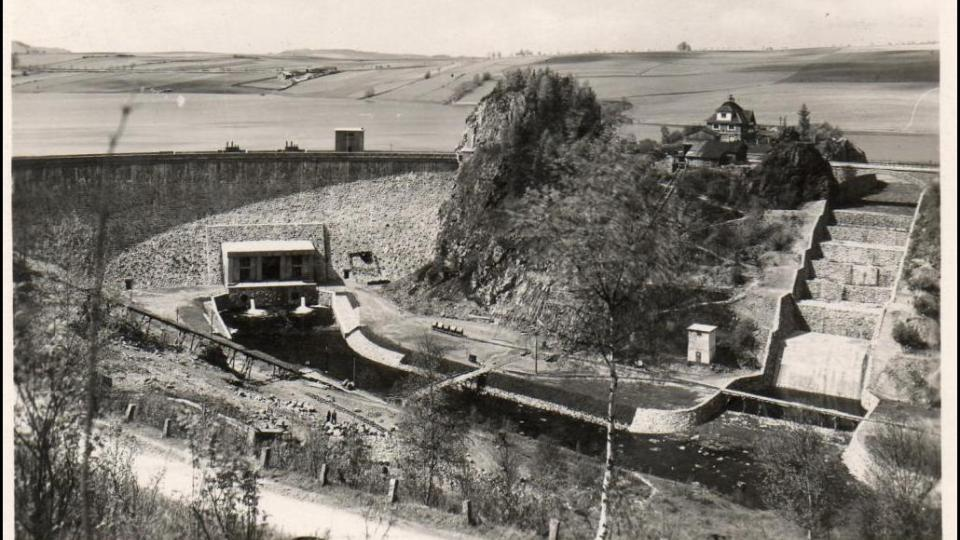 Přehrada Seč v roce 1941